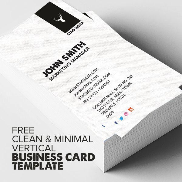 Freebie – Vertical Business Card PSD Template