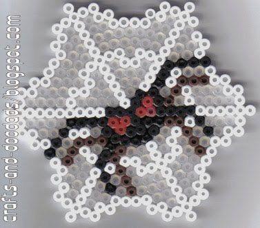 strijkkralen, spin in web voor kleuters