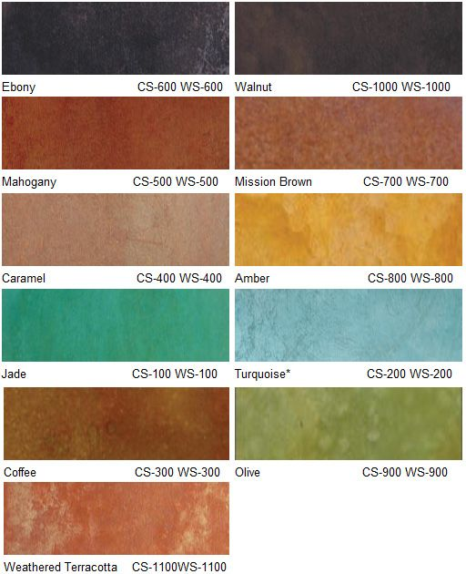 Eco stain concrete water based color chart furniture pinterest stained colour and also rh