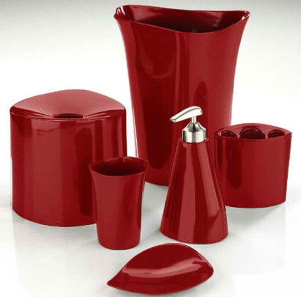 20 Fascinating Red Bathroom Accessories Home Design Lover Red Bathroom Accessories Bathroom Red Red Bathroom Decor