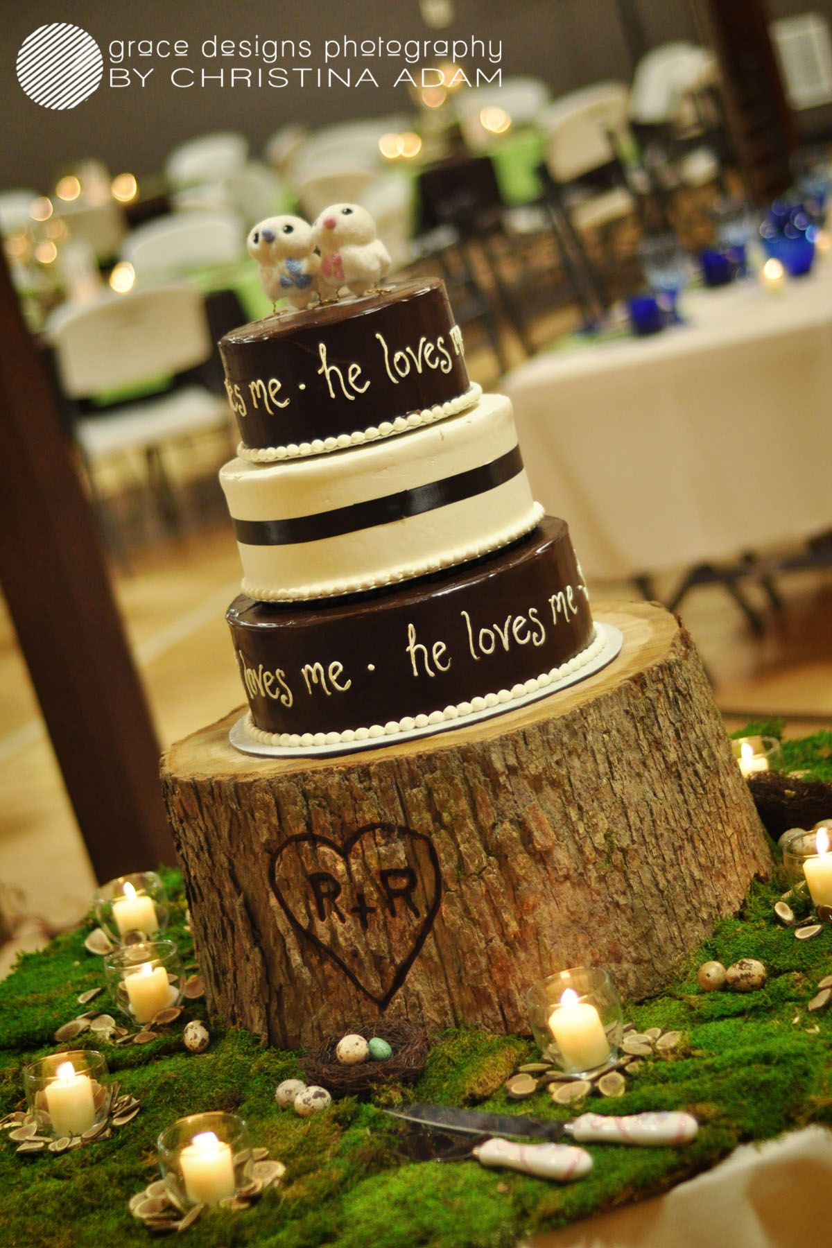 Wood cake stand with initials let them eat cake pinterest wood