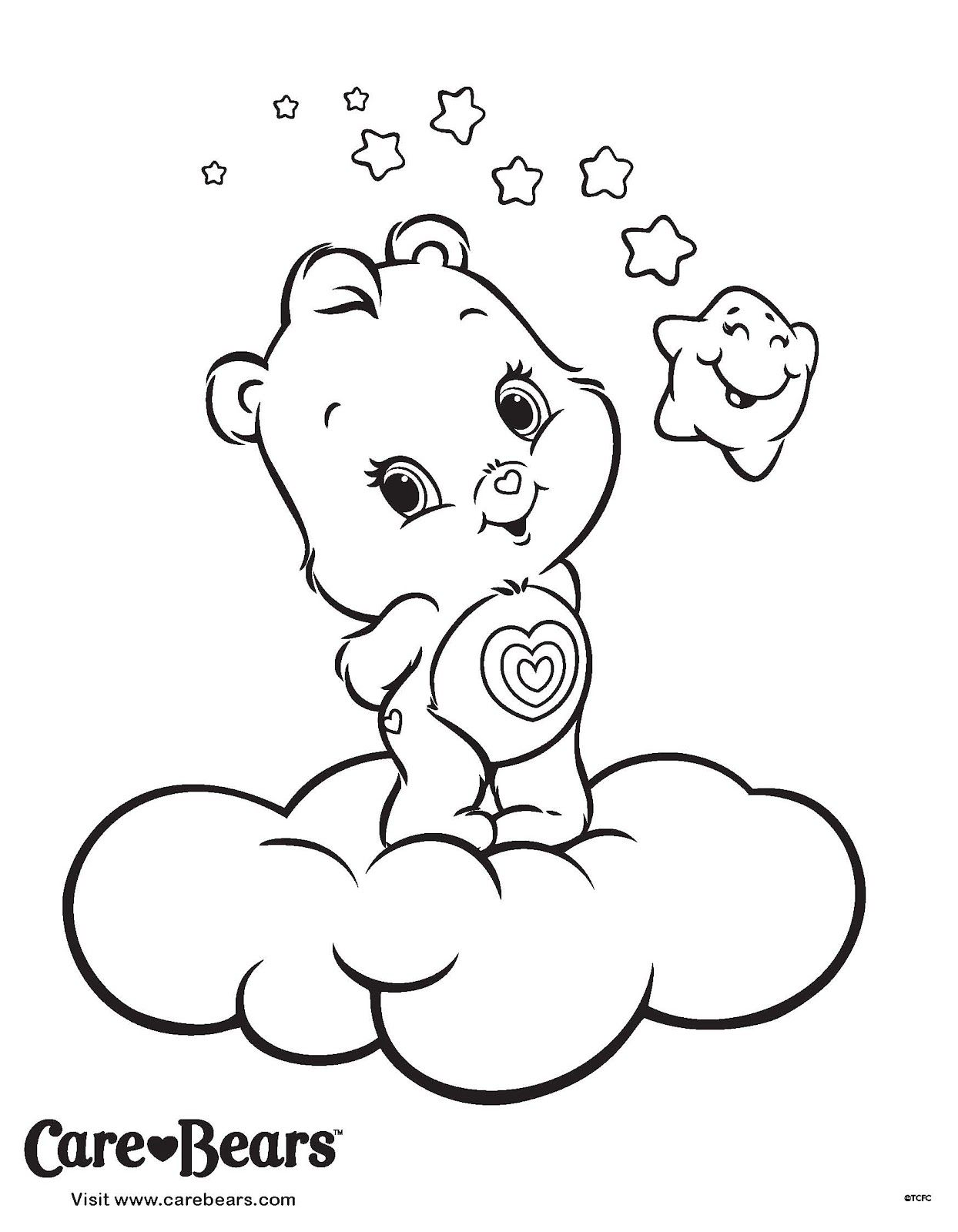 Care Bears Wonderheart Coloring Printable Page Care