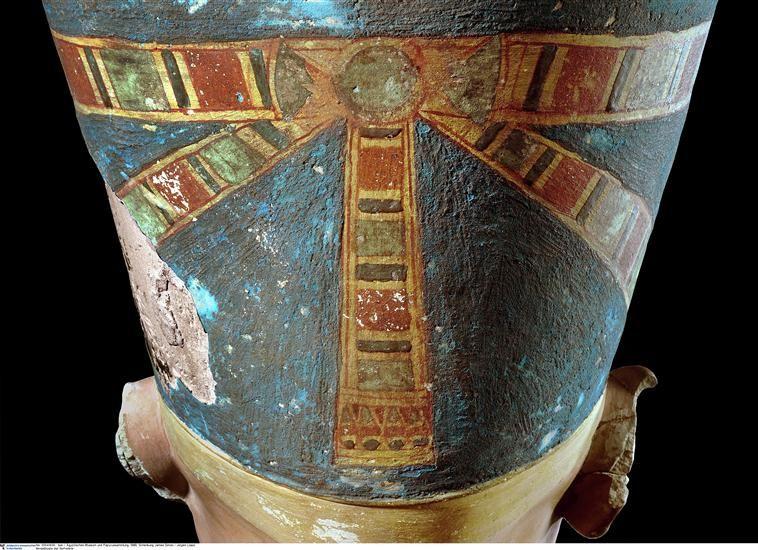 the bust of nefertiti detail ancient egypt