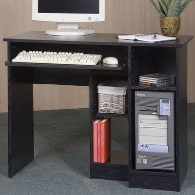 Mylex Student Computer Desk Finish Black Oak