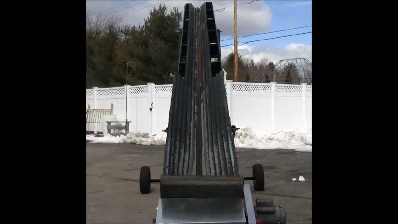 Best Homemade Wood Conveyor Converted Hay Elevator Version 2 Faster Wood Splitter Conveyor Wood