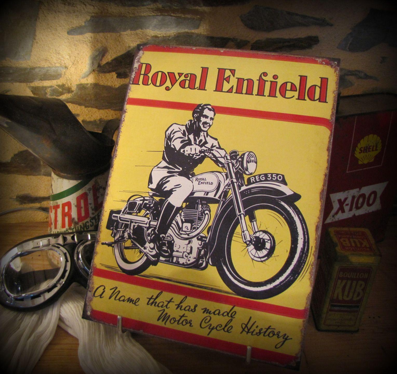 Plaque métal, reproduction plaque émaillé années 60 royal