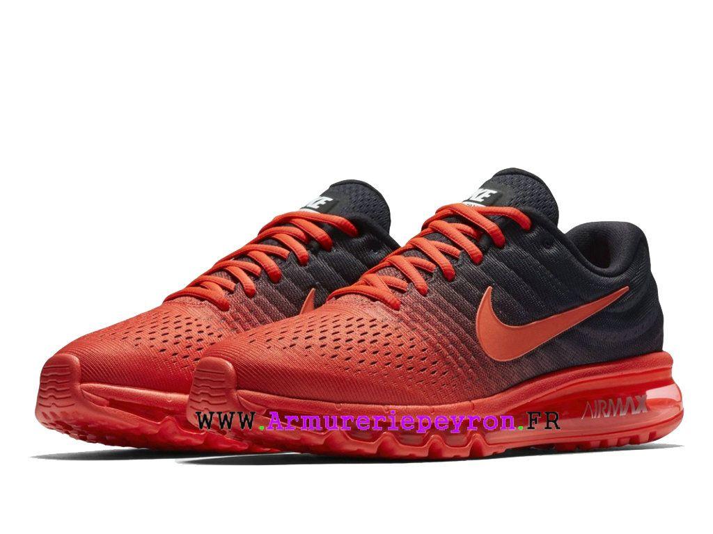 Noir Pied Nike De Chaussures Max Homme 2017 À Air Rouge Course doCBrxe