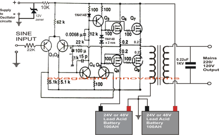 related with pure sine wave inverter circuit diagram free download