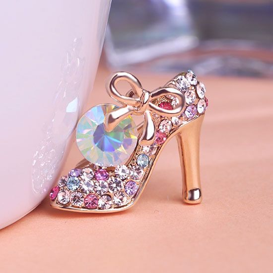bdb29a7188 Crystal High Heel Shoes Brooches Women Weddings Jewelry Broches ...