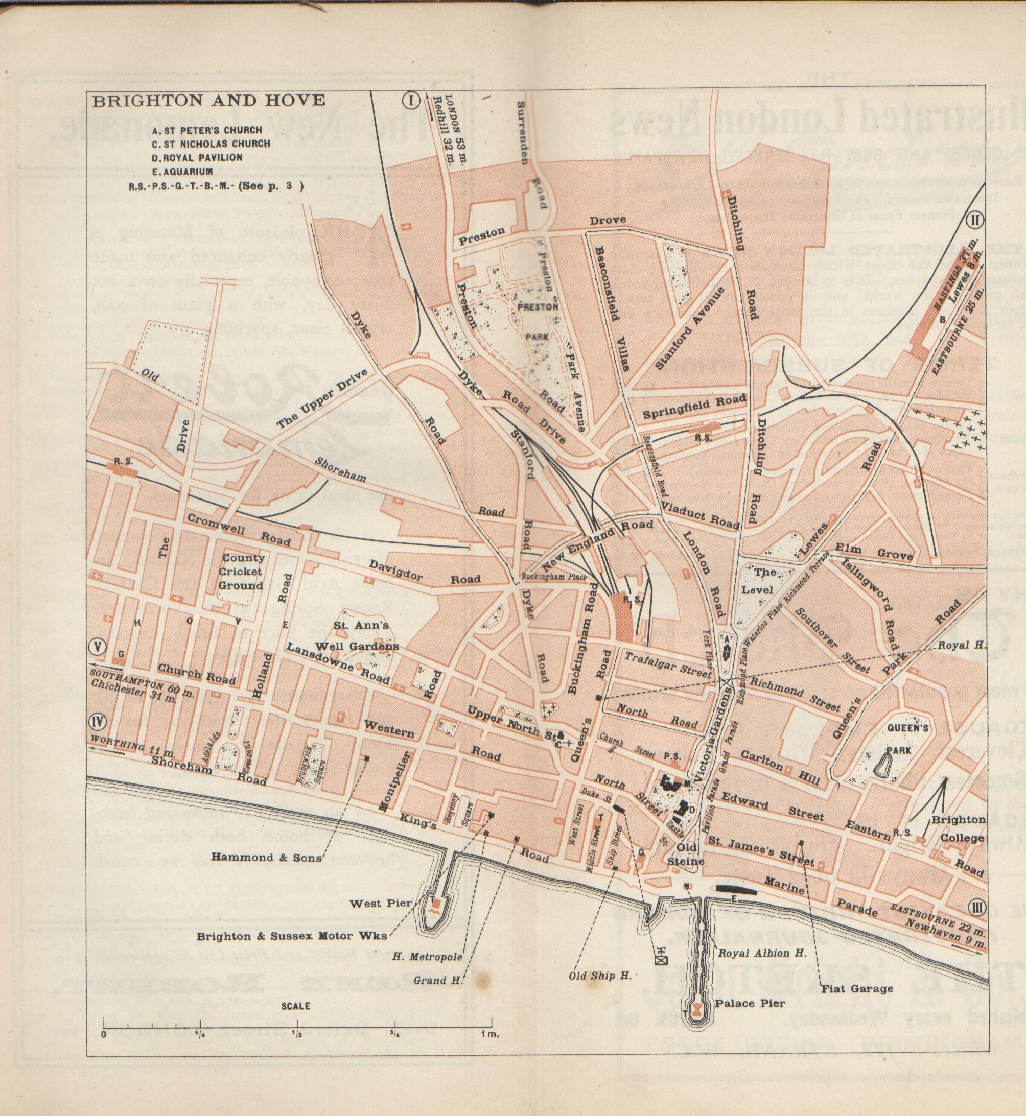 Vintage Hove Map Brighton England Pinterest Brighton and