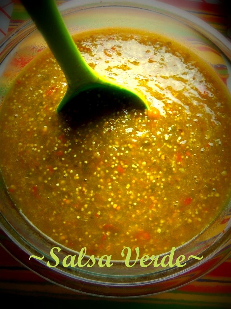 Salsa Verde With Both Chile Serrano And Chile De Arbol Tomatillo Salsa Recipe Mexican Food Recipes Food