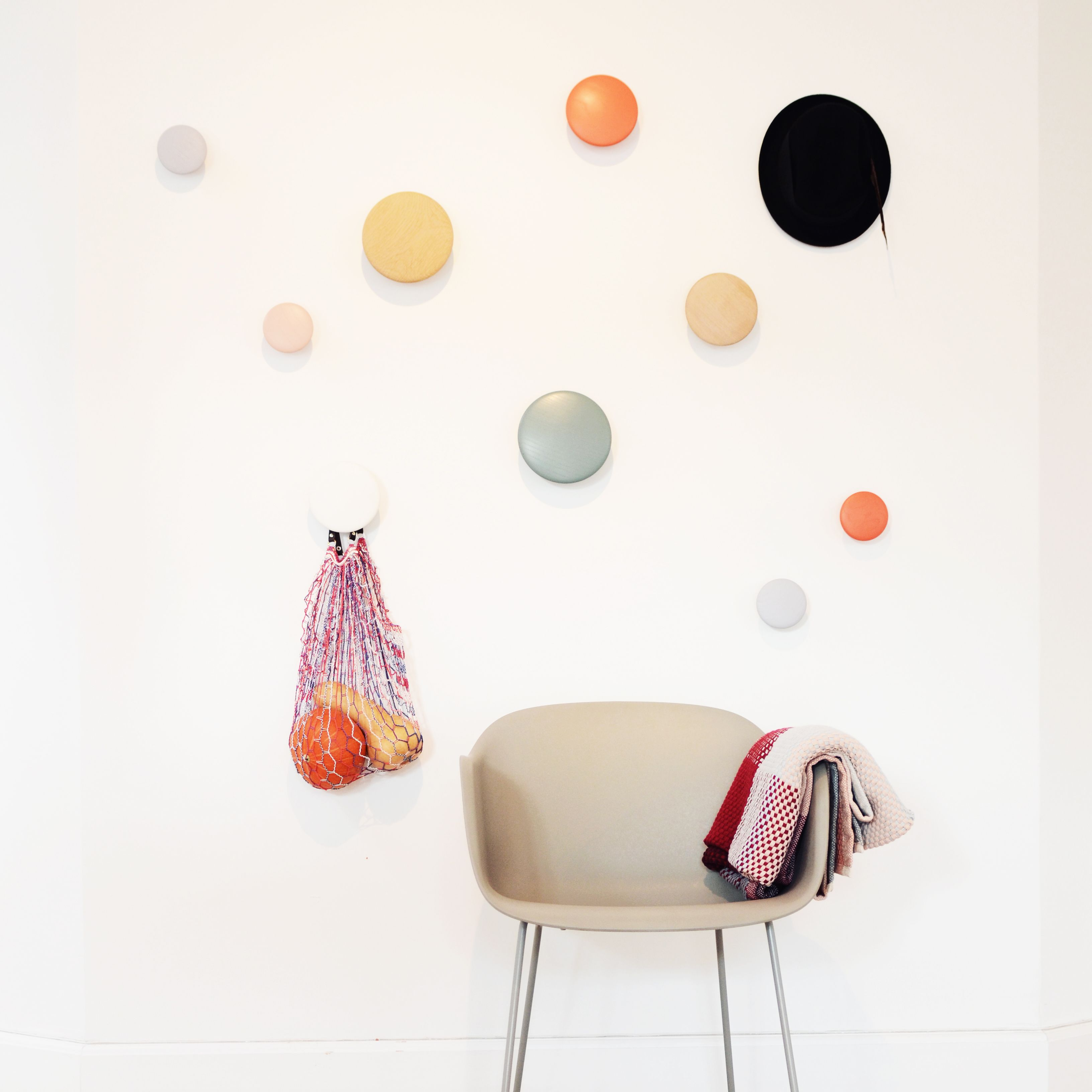muuto dots coat hooks loom plaid and fiber chair gift. Black Bedroom Furniture Sets. Home Design Ideas