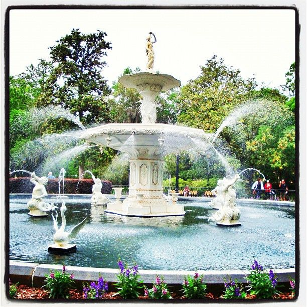 The lovely fountain…
