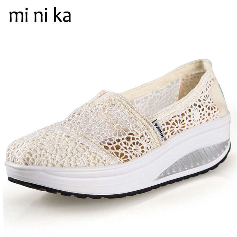 New Womens Slip On Mules Sneaker Strappy Hollow Out Summer Creepers Casual Shoes