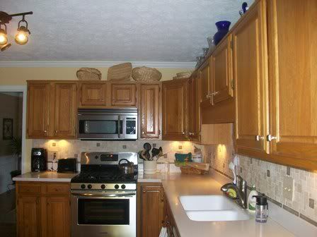 80s kitchen update with painted cabinets | House interior ...