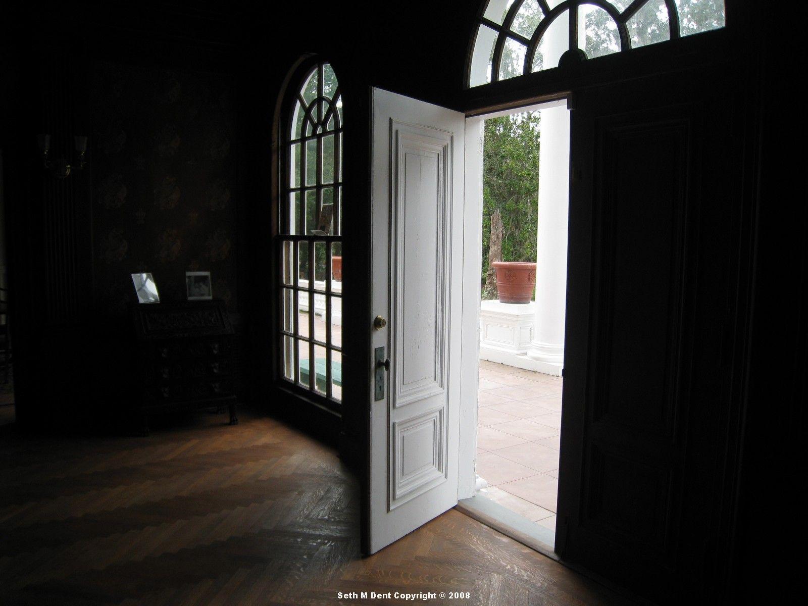 open house door. Open Door Dark Room   In The Great Hall Looking Toward Front # House
