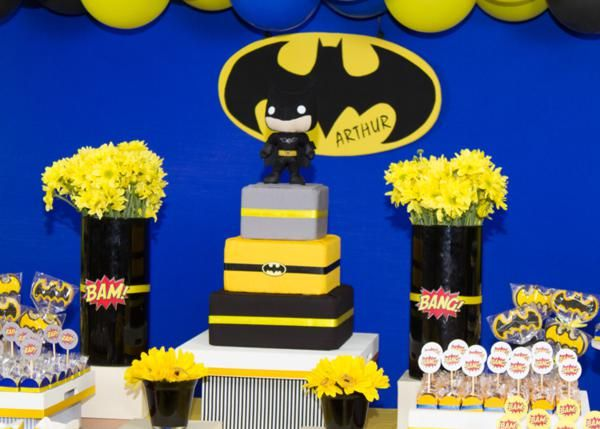 Batman Boy Superhero 3rd Birthday Party Planning Ideas Decorations & Batman Boy Superhero 3rd Birthday Party Planning Ideas Decorations ...