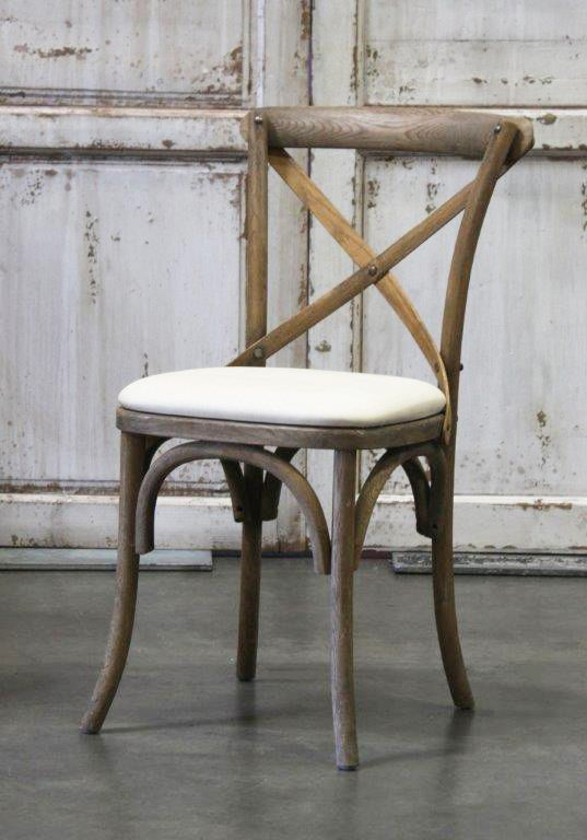 Vineyard Weathered Oak Cross Back Dining Chair Town Country Event Als