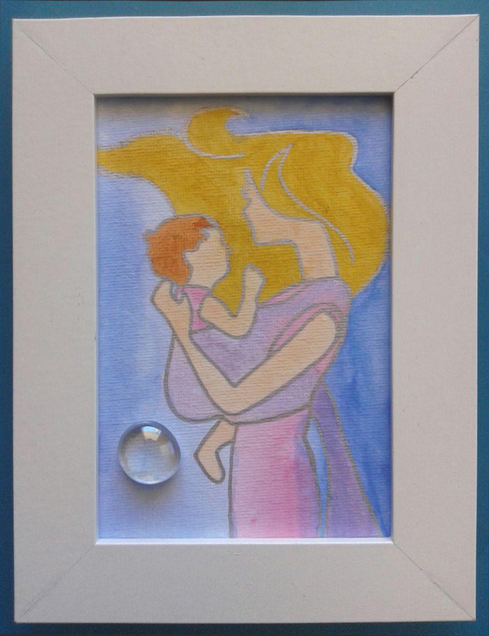 003 Acrilico su cartoncino intelato, decorato con sassolino di vetro; cm 15 x 10 senza cornice; cm 18,5 x 13,5 con cornice https://www.ebay.it/usr/camerapicta