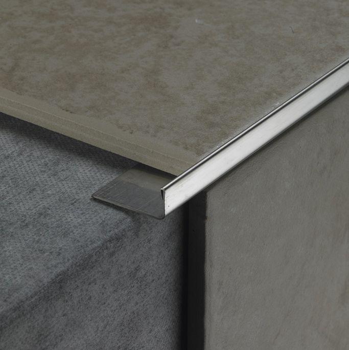 How To Finish Tile Edges And Corners Tile Edge Schluter Tile Edge Diy Tile Shower