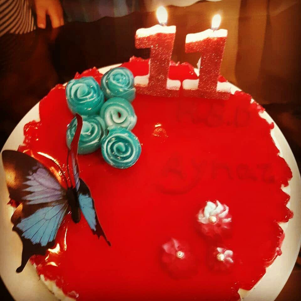 Chese cake cake birthday candles cheesecake