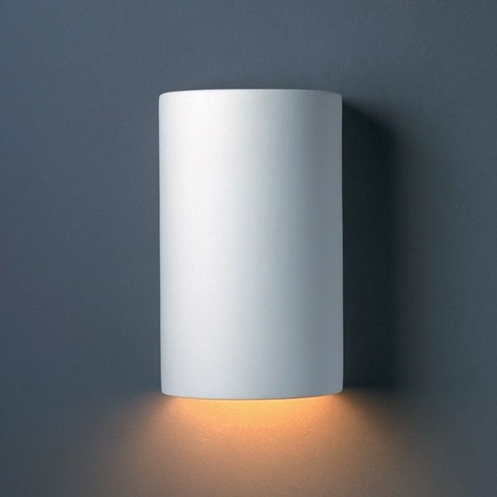 Outdoor Cylinder Led Downlight Wall Sconce By Justice Design Cer 0940w Bis Led1 1000 Bathroom Wall Sconces Wall Sconce Lighting Wall Sconces