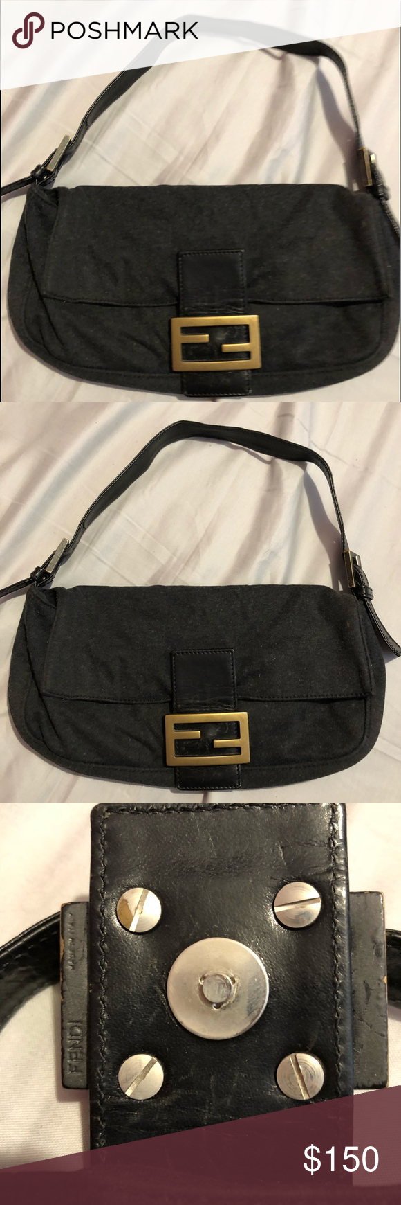 c5bde179bd FENDI shoulder bag FENDI fabric shoulder bag USED - slightly worn Fendi Bags  Shoulder Bags