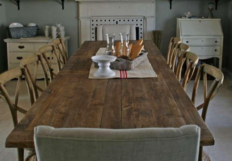 Tavoli in legno grezzo - Grande tavolo in legno grezzo