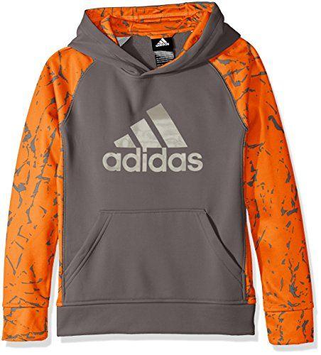 adidas Big Boys' Active Hoodie, Granite/Unity Orange, Med...  https://www.amazon.com/dp/B01EWP0XC8/ref=cm_sw_r_pi_dp_U_… | Active hoodie,  Hoodies, Tech fleece hoodie