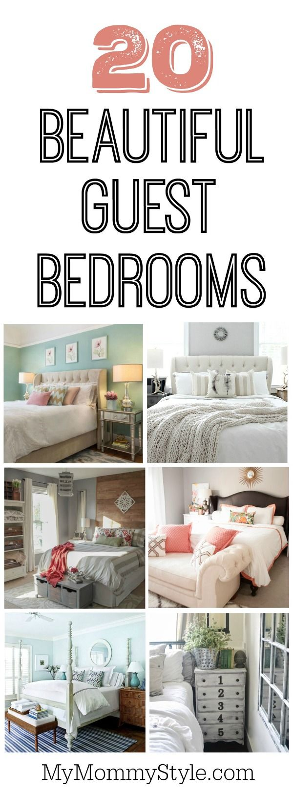 20 Beautiful Guest Bedroom Ideas My Mommy Style Small Guest Bedroom Guest Bedroom Decor Guest Bedrooms