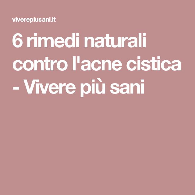 dieta contro acne cistica