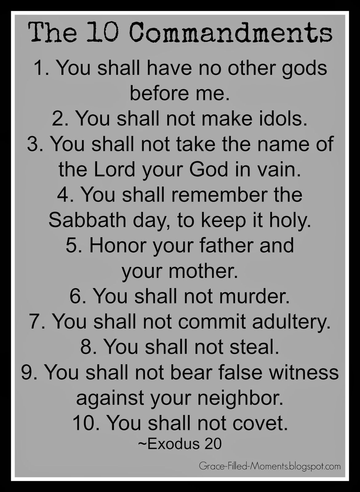 images of lists of the ten commandments 2015 :. ) | do the 10