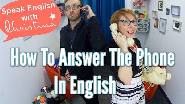 Répondre au téléphone en anglais - Speak English with Christina