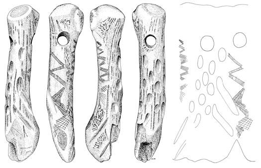 Magiske mønstre? Indridsede ornamenter ses på ravsmykker og personlige genstande som knive af ben og hjortetaksøkser. Nogle mønstre er dybt indridset og må have vakt almindelig beundring. Andre fremtræder så svagt, at det kun var genstandens ejer, som kendte til dem. Måske fungerede mønstrene som en magisk beskyttelse af genstanden – og af dens ejer.  Ornamenterede økser af hjortetak er formentlig en form for stridsøkser, der kan have haft en magisk eller rituel funktion. Dekorationerne blev…