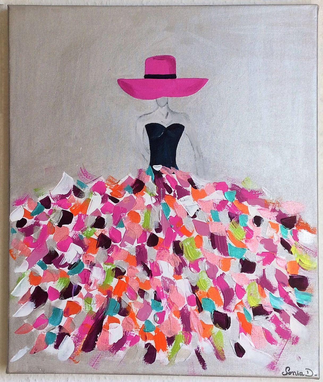 Robe Moderne Tableau Multicolore Coloree Femme BvggnqxHw