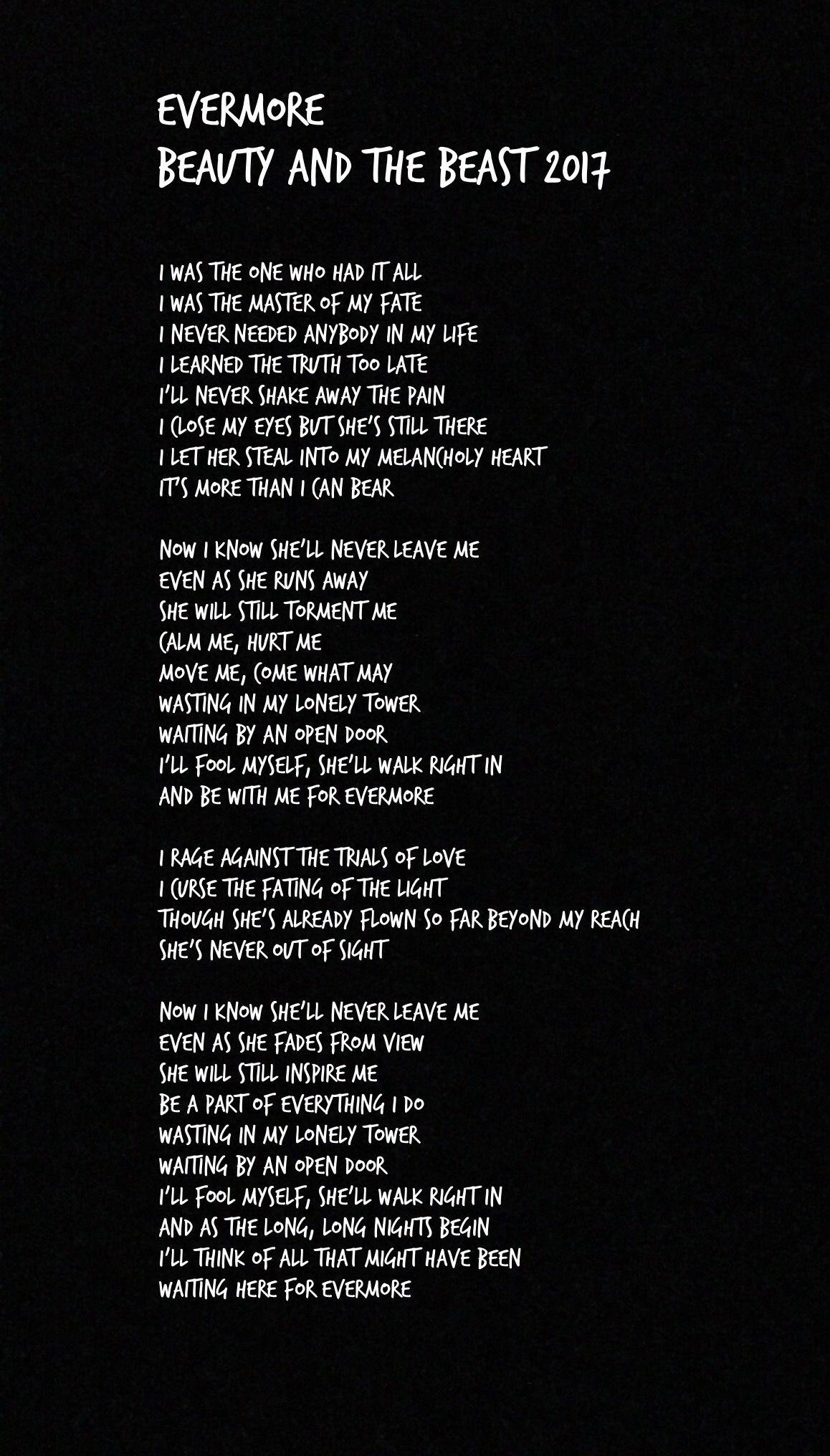 beauty and the beast lyrics # 4