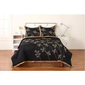 Hometrends Sketchy Fl Comforter Set Black 35 00