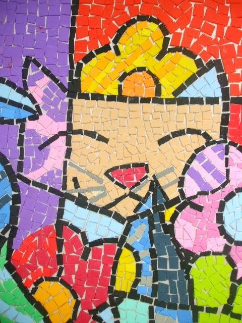 Mosaico com Retalhos de Eva
