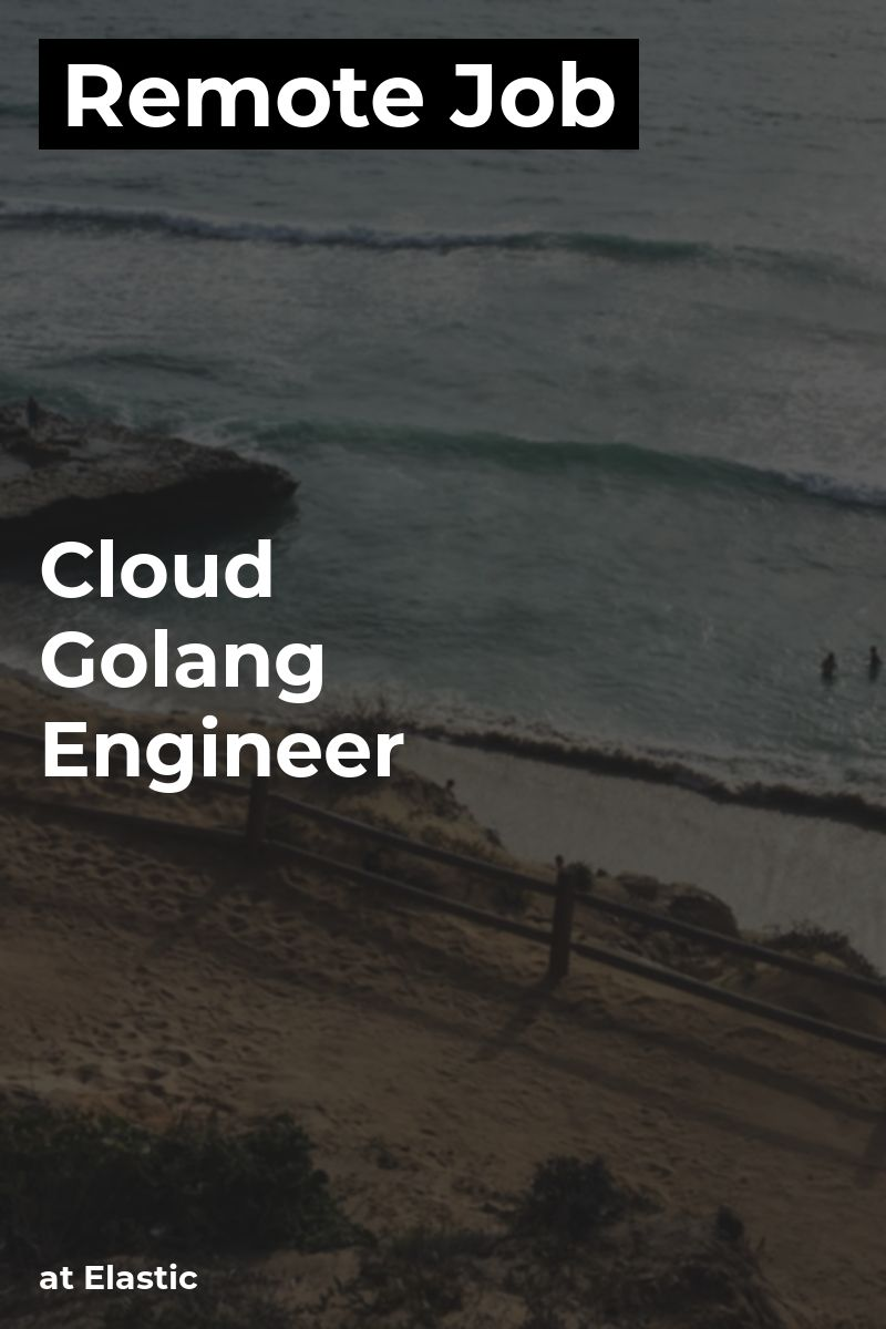 Remote Cloud Golang Engineer at Elastic go