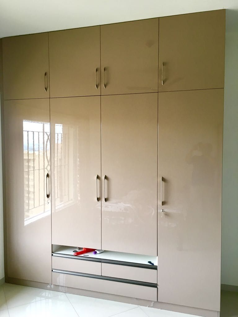 Completed project for 3bhk flat in sobha city bangalore client home interior design includes bedroom wardrobe design
