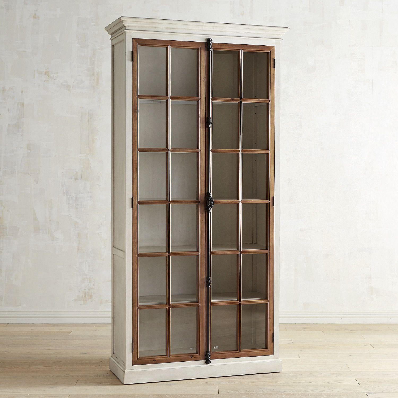 """Decor Cabinets Hardware: Cremone Antique White 91"""" Cabinet"""
