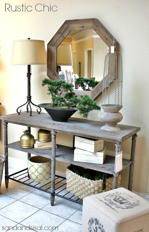 Foyer decorating ideas miroir hexagonal entr e et foyer for Console pour vestibule