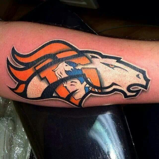 Broncos Temporary Tattoo Would Make For A Great Permanent Tattoo Denver Broncos Tattoo Denver Broncos Denver Broncos Art