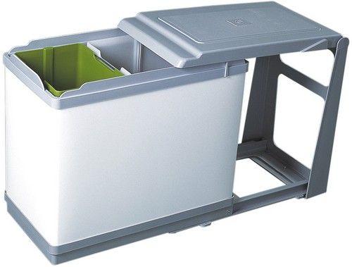 poubelle coulissante tri sélectif 27 litres 2 seaux ... - Poubelle Cuisine Tri Selectif