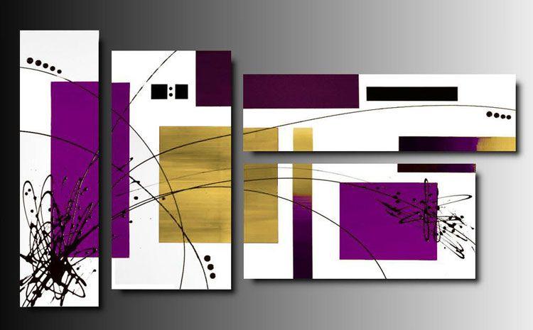 40 splendidi quadri moderni astratti perfetti per arredare la camera ...