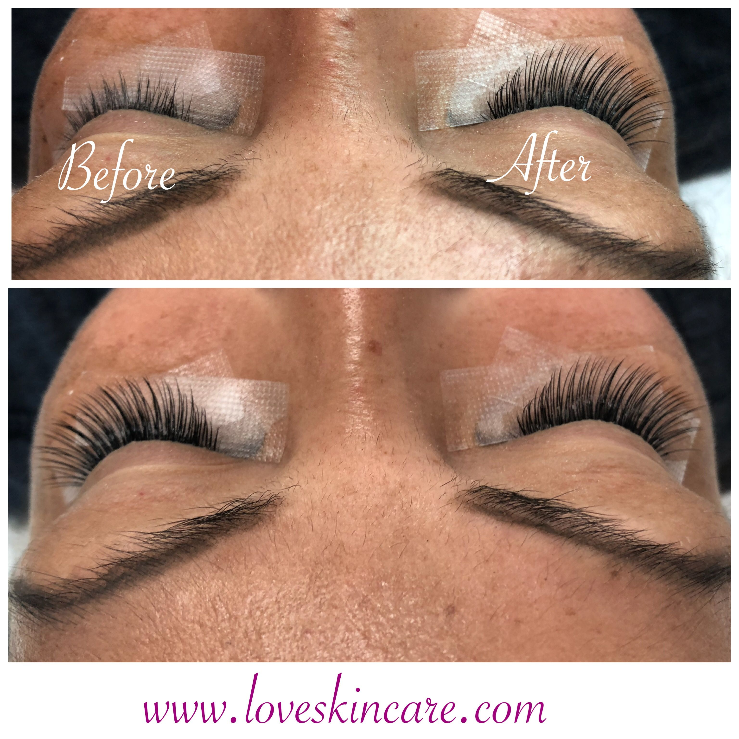 Eyelash extensions before and after eyelash extensions