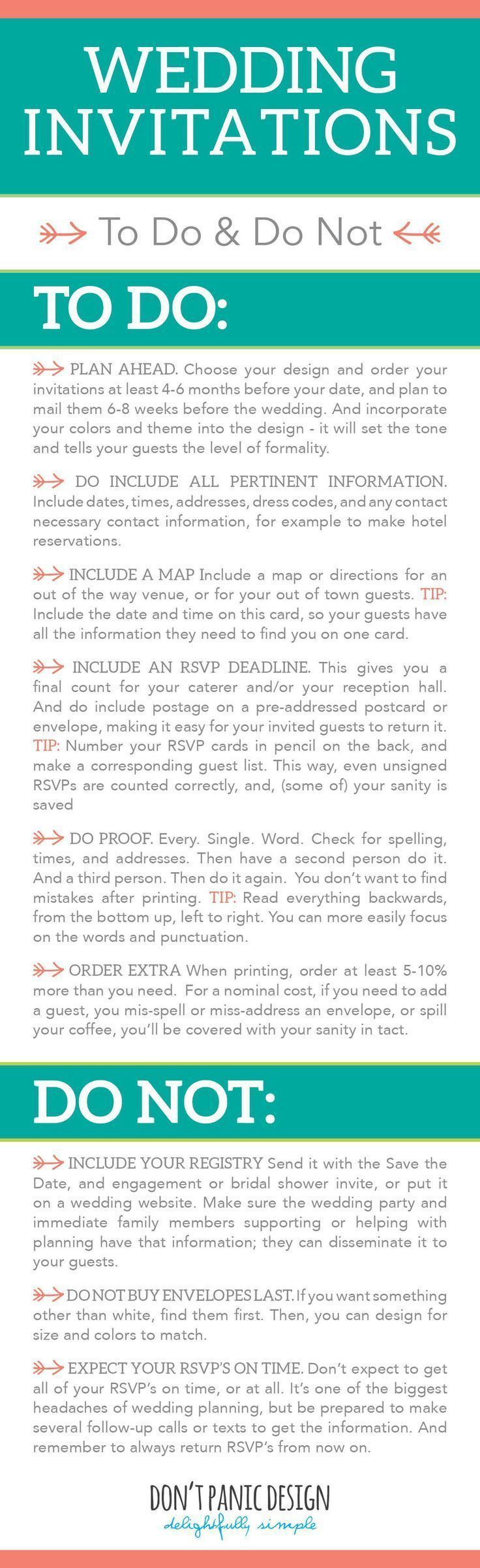 DIY Wedding Invitation - A guide on what to do and what not to do ...