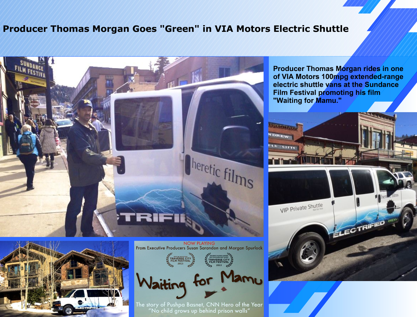 Thomas Morgan Goes Green By Using Via Motors 100mpg Extended Range Electric Penger