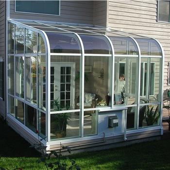 Factory Sale 2018 New Style High Quality Aluminum Glass Sunroom Glass House Greenhouse Buy Sunroom Glass House Facto Sunroom Kits Patio Enclosures Patio Room