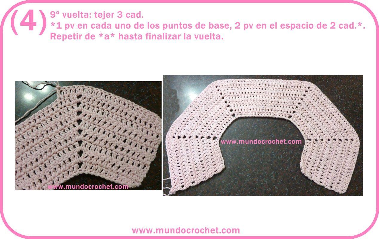 Saquito o Camperita a crochet para niña   crochet   Pinterest